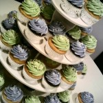 Green and Purple Wedding Cupcakes
