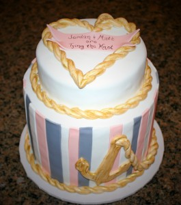 Tying the Knot Engagement Cake