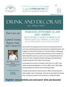 Drink and Decorate Flyer